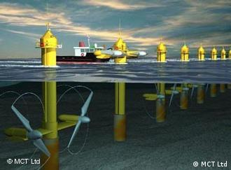 Just the beginning: The first farm of tidal turbines could spring up off the English coast within years.