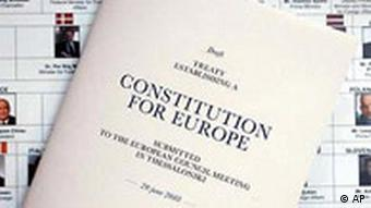 A draft copy of the European Constitution