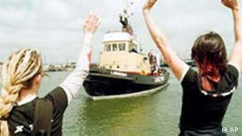 Holländisches Abtreibungsschiff in Polen