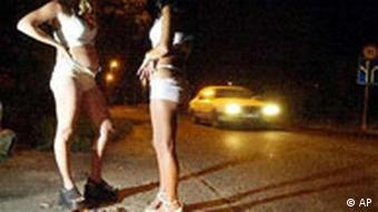 prostitutes on a street