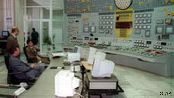 Kontrollraum im bulgarischen Kernkraftwerk Kozlodui Kosloduj