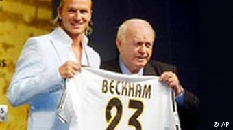 Davis Beckham mit Trikot