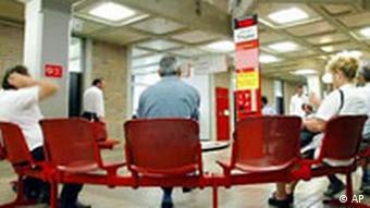 Wartezimmer beim Arbeitsamt in München