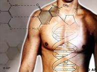 جسم میں ڈی این اےکا ایک علامتی اظہار