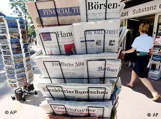 Ein Zeitungsstand