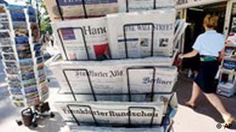 Zeitungsstand in Frankfurt