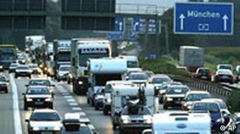 German autobahn traffic jam
