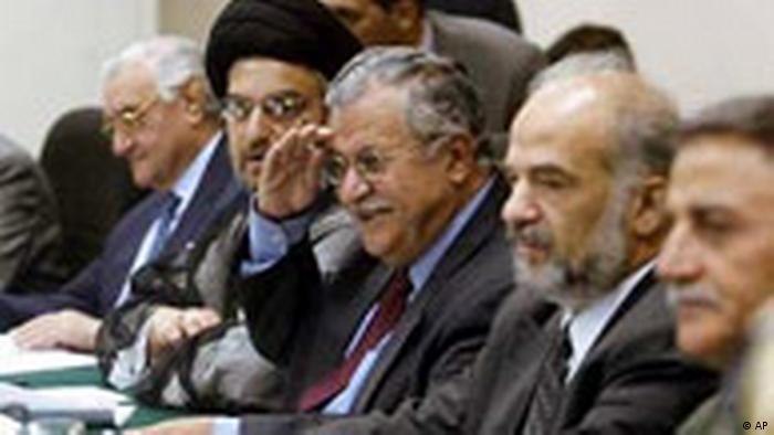 Erste Sitzung des irakischen Verwaltungsrats (AP)