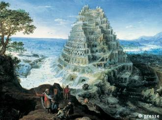 Lucas van Valckenborch's paiting of the Tower of Babel