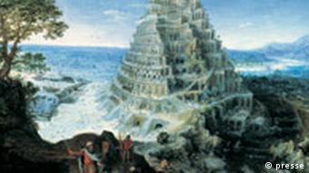 Lucas van Valckenborch, Turmbau zu Babel, 1595, Mittelrhein-Museum, Koblenz
