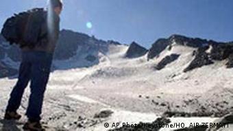 Matterhorn in Zermatt, Schweiz, Gletscher schmilzen