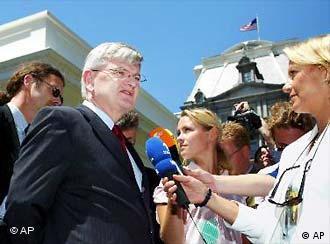 Fischer em Washington, após encontro com Cheney