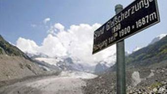 Gletscher gehen zurück Alpen Schweiz