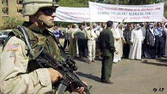 USA Soldat Demonstration in Hillah