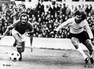 Breitner contra Italia en 1974.