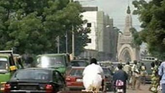 Hauptstrasse in Bamako, Mali