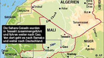 محل حمله به شهروندان فرانسوی در مرز مشترک نیجر، مالی و الجزایر