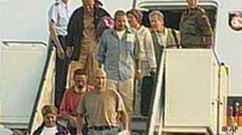 Ankunft der befreiten Geiseln in Köln