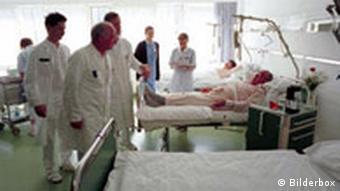 Visite im Krankenhaus