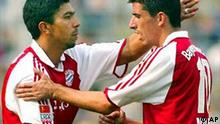 Giovane Elber mit Roy Makaay