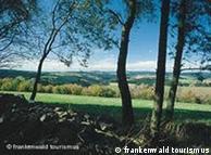 Zona protegida en el bosque de Franconia, Alemania.