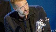 Chris Martin von Coldplay mit MTV Preis