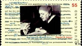 Adorno Gedenkbriefmarke