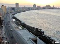 Malecón en la Habana.