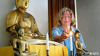Buddhism teacher Renat Noack, in Berlin, 2003