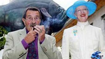 Königin Margrethe und Günter Grass