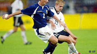 Fußball Deutschland Schottland Tobias Rau - Jackie McNamara