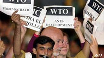 WTO Ministerkonferenz in Cancun Demonstranten