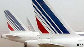Air France jet tails