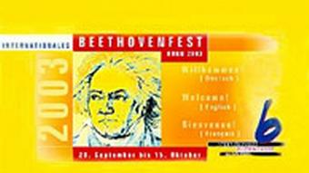 Poster advertising the Beethoven Festival (Beethovenfest) in 2003