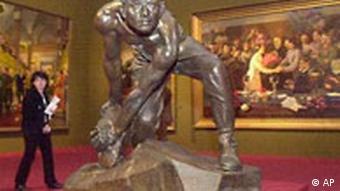 Stalin Kunst in Frankfurt Skulptur