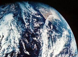 Photograph of Earth as seen from the Apollo 8 moon mission