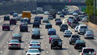 Traffic on highway in Atlanta, Georgia