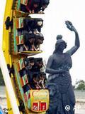 Estátua da Bavaria fica no parque onde é realizada a festa