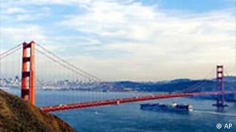 The Golden Gate bridge in San Francisco