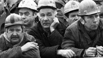 Workers at the Gdansk shipyards