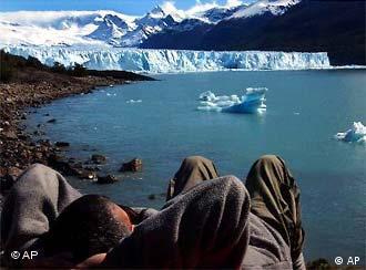 Der Perito Moreno Glacier in Patagonien schmilzt